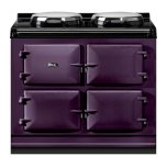 """AGAAGA Total Control 39"""" Electric Aubergine with Stainless Steel trim"""