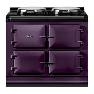 "AGAAGA Total Control 39"" Electric Aubergine with Stainless Steel trim"