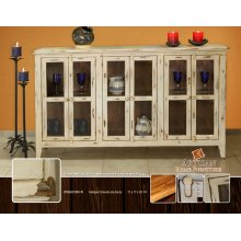 Antique Olive Console, Six doors