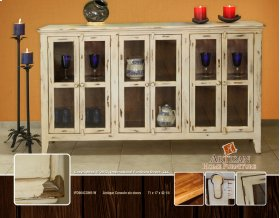 Antique Red Console, Six doors