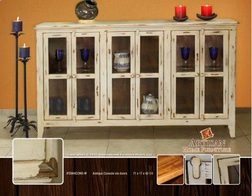 Antique Olive Console, Six doors