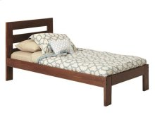 Heartland Twin Promo Bed with options: Chocolate, Twin, 2 Drawer Storage
