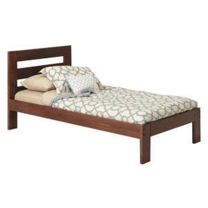 Heartland Twin Promo Bed with options: Chocolate, Twin, Twin Trundle