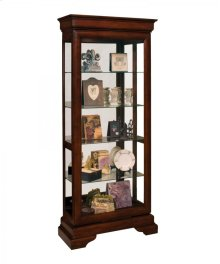 11482 AVIGNON TWO-WAY SLIDING DOOR CURIO CABINET