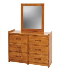 Sunset Trading Rustic Six Drawer Dresser with Mirror