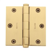 Satin Brass and Brown Square Corner Hinge