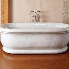 Roman Bathtub Luna Bianca Marble