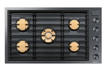 """Modernist 36"""" Gas Cooktop, Graphite Stainless Steel, Natural Gas"""