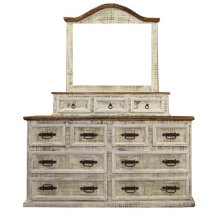 White 8 Drawer Dresser