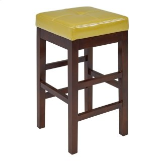 Valencia Backless Leather Counter Stool, Wasabi