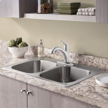 Colony Top Mount ADA 33x22 Double Bowl Stainless Steel 3-hole Kitchen Sink  American Standard - Stainless Steel