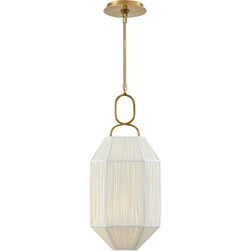 Visual Comfort KW5315AB-L Kelly Wearstler Forza 1 Light 11 inch Antique-Burnished Brass Lantern Pendant Ceiling Light, Small Gathered