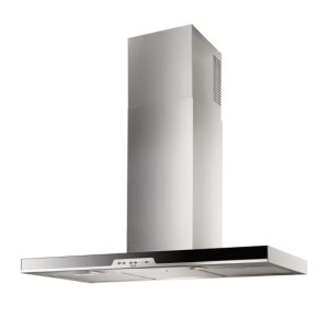 """Eclisse - 35-7/16"""" Stainless Steel Chimney Range Hood with iQ6 Blower System, 600 CFM"""
