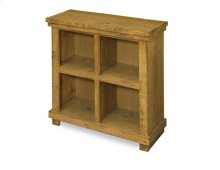Distressed Pine Bookcase - Black Finish