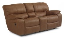 Grandview Fabric Power Reclining Loveseat with Console