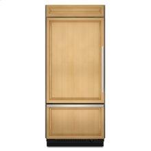 Brshd Aluminum Trim/Pnl Ready KitchenAid® 20.8 Cu. Ft. 36-Inch Width Built-In Bottom-Freezer Refrigerator, Overlay Panel-Ready