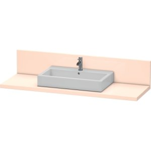 Console + Back Panel For Above-counter Basin And Vanity Basin, Apricot Pearl High Gloss Lacquer