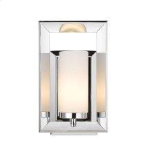 Smyth 1 Light Bath Vanity in Chrome with Cased Opal Glass