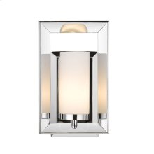 Smyth 1 Light Bath Vanity in Chrome with Cased Opal Glass