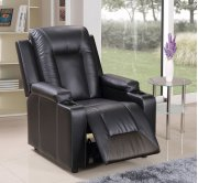 Black Pu Leather Recliner Product Image