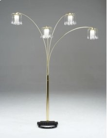 Brass Spider Floor Lamp w/ Crystal