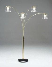 Brass Spider Floor Lamp w/ Crystal