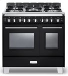 "Matte Black Verona Classic 36"" Gas Double Oven Range Product Image"