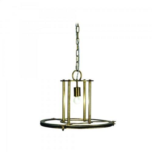 1 Light Pendant in Antique brass Finish Medium
