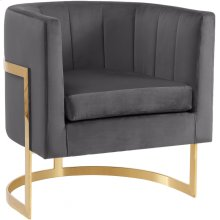 "Carter Velvet Accent Chair - 29"" W x 27.5"" D x 31"" H"