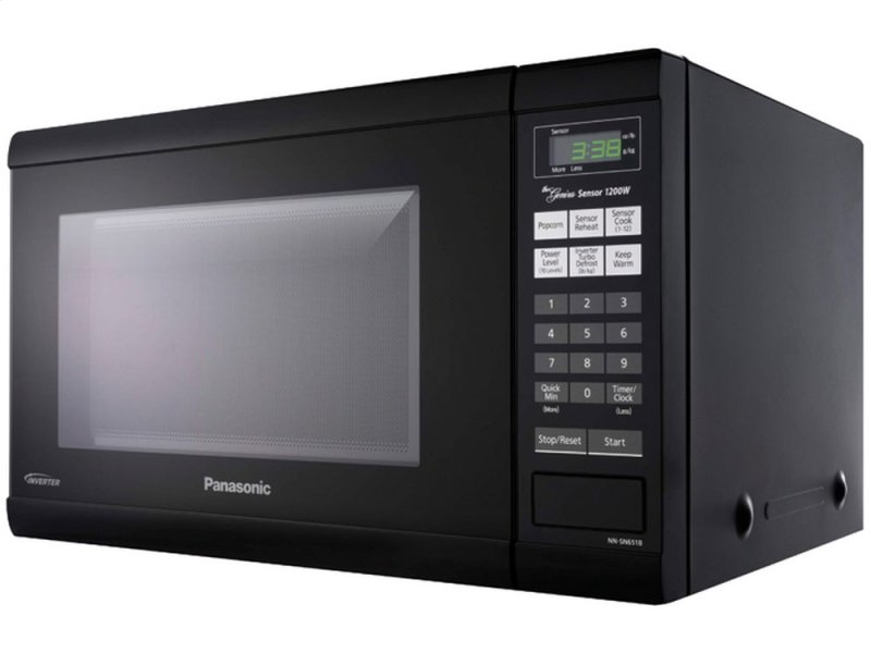 1 2 Cu Ft Countertop Microwave Oven With Inverter Technology Black Nn