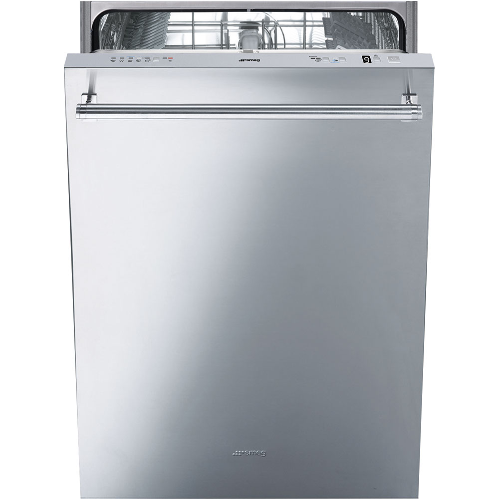 """Smeg60cm (Approx. 24"""")pre-Finished Dishwasher With Fingerprint-Proof Stainless Steel, Maxi-Height Door And Professional Handle"""