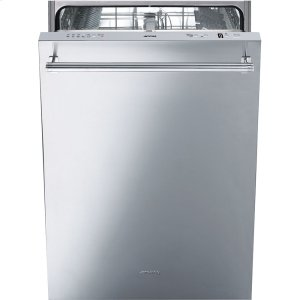 "Smeg60CM (Approx. 24"")Pre-Finished Dishwasher with FingerPrint-Proof Stainless Steel, Maxi-Height Door and Professional Handle"