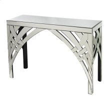 CURVED RIBBONS MIRRORED CONSOLE