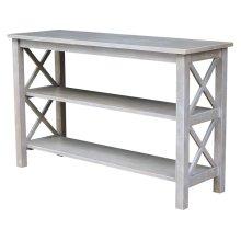 Hampton Sofa Table in Taupe Gray