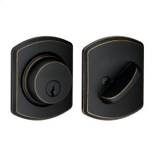Single Cylinder Deadbolt with Greenwich trim - Aged Bronze