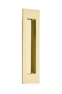 """Flush Pull - Modern Rectangular Brass 7"""""""