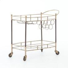Antique Brass Finish Coles Bar Cart