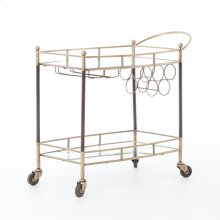 Antique Brass Finish Coles Bar Cart