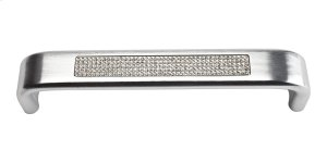 Crystal Inset Arch Pull 5 1/16 Inch (c-c) - Matte Chrome Product Image