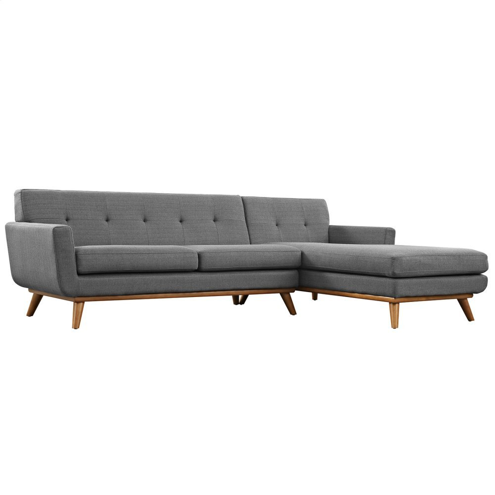 Engage Right-Facing Sectional Sofa in Gray