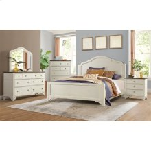 Grand Haven - California King Panel Bed Rails - Feathered White Finish