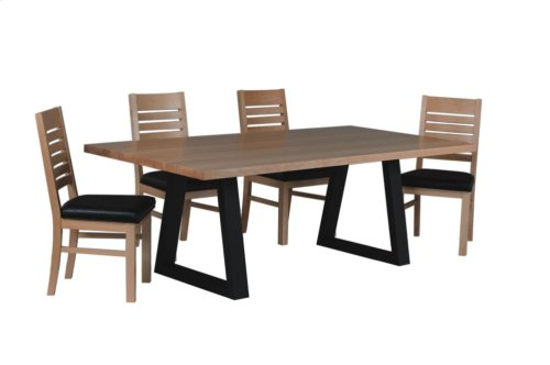 Metal Double Pedestal Table