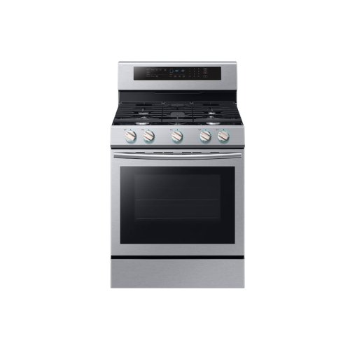 5.8 cu. ft. Freestanding Gas Range with True Convection in Stainless Steel