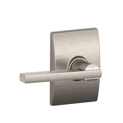 Latitude lever with Century trim Hall & Closet lock - Satin Nickel