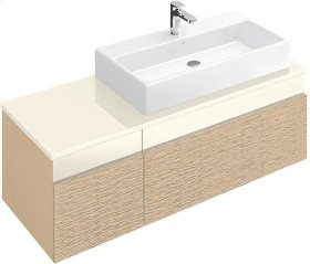 "Washbasin 31"" (Ground) Angular - White Alpin CeramicPlus"