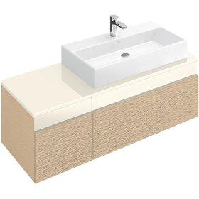 """Washbasin 31"""" (Ground) Angular - Matte White CeramicPlus"""