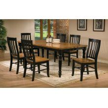 "7Pc Set 78"" Leg Table with 18"" Butterfly Leaf"