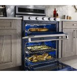 Kitchenaid 30-Inch 5 Burner Dual Fuel Double Oven Convection Range - Stainless Steel