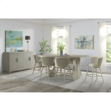 Lilly - Upholstered Windsor Counter Stool - Champagne Finish