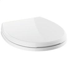 White Round Front Standard Close Toilet Seat